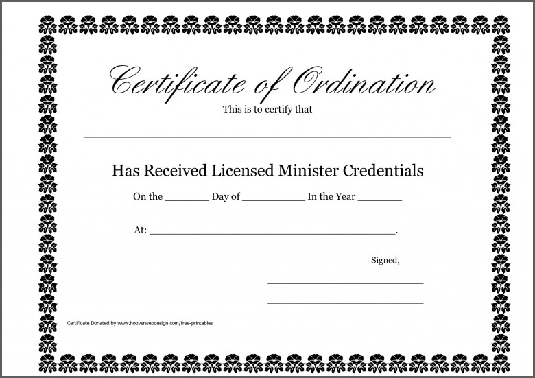 Certificate Templates Deacon Ordination Template whosonline.co
