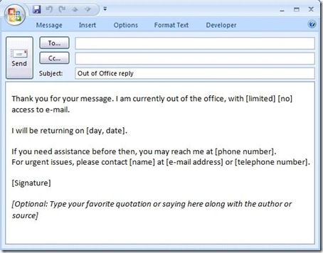 office message template Kleo.beachfix.co