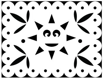 Papel Picado Coloring Sheets for Cinco de Mayo and other Mexican