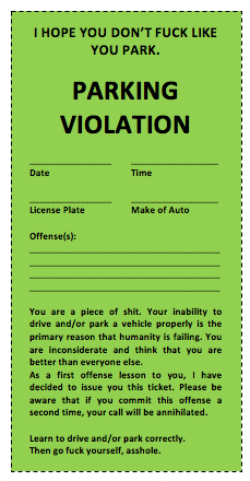 Parking Tickets Template FREE DOWNLOAD