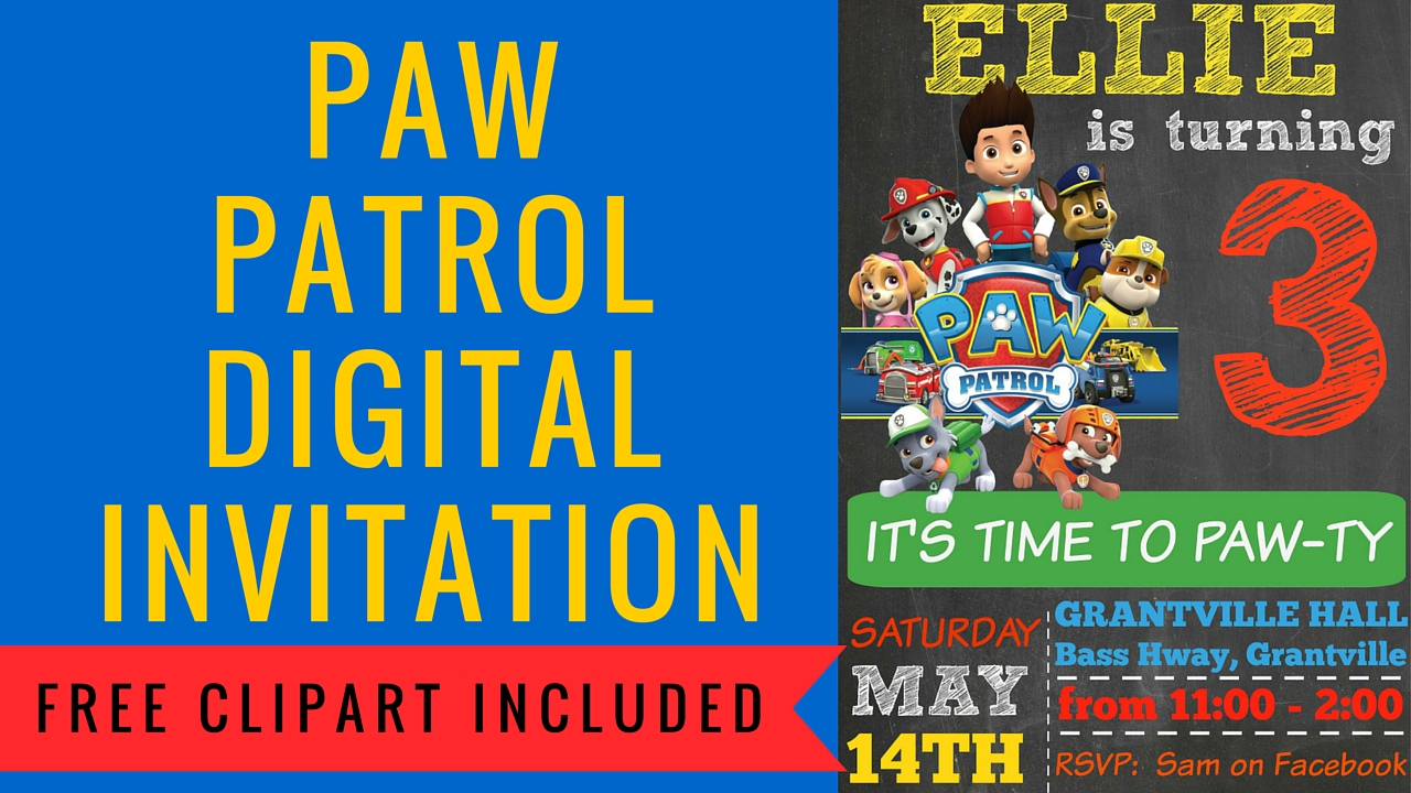 How to make a Paw Patrol Digital Invitation | includes FREE