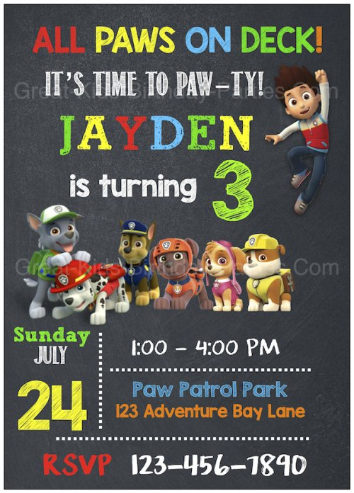 Paw Patrol Birthday Ideal Paw Patrol Birthday Invitations Free