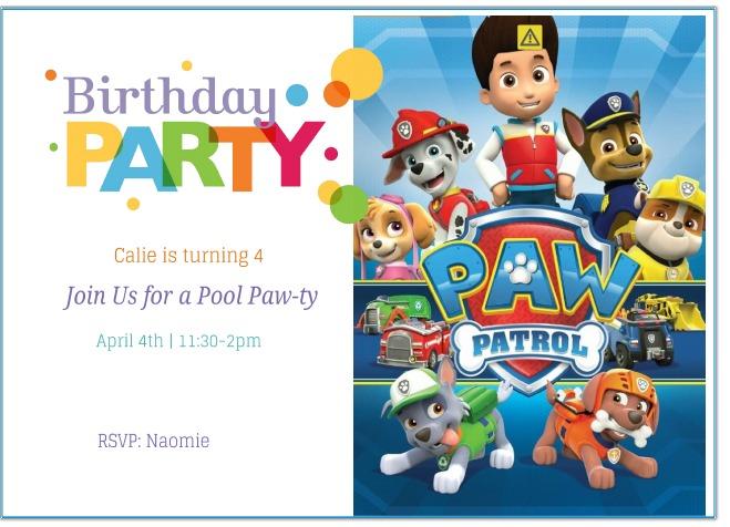 Paw Patrol Invitation Template Free Free Printable Paw Patrol