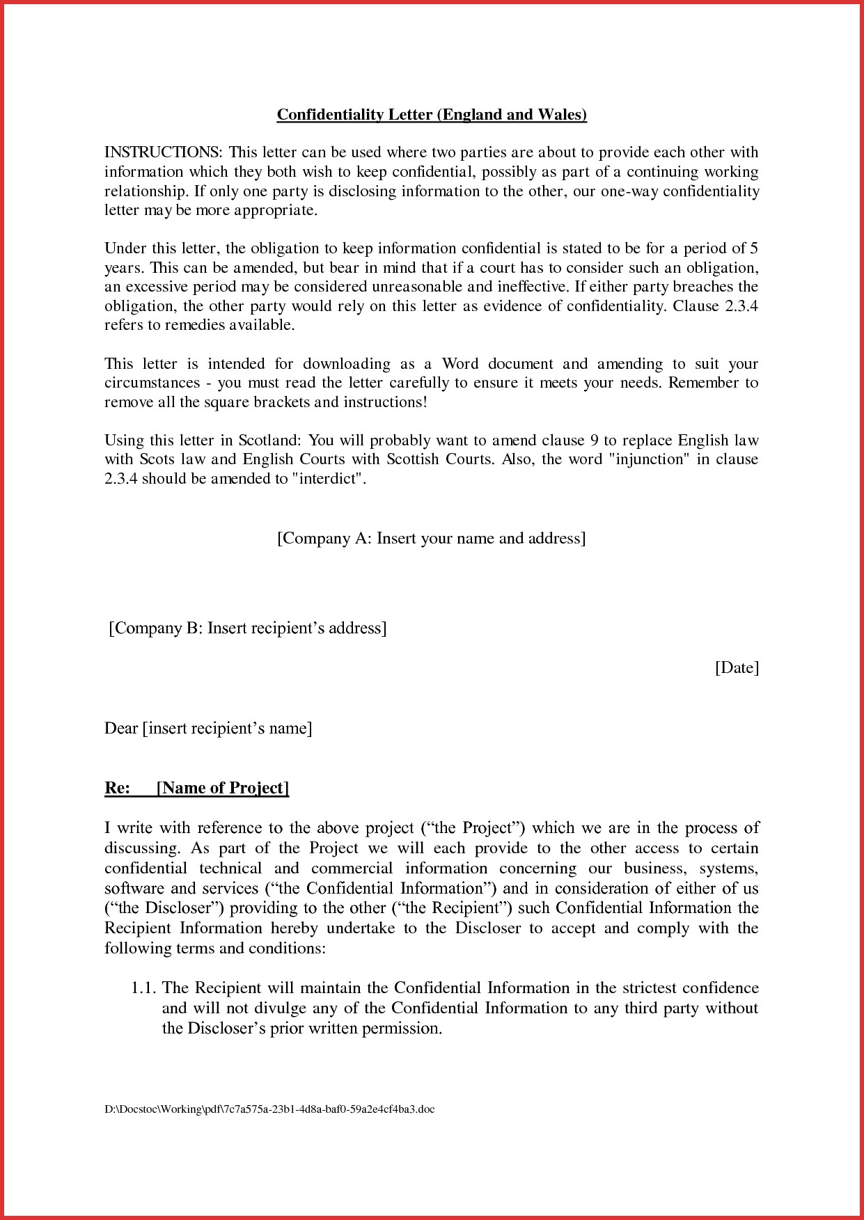 Agreement Letter Between Two Parties For Payment 2 – cool green jobs