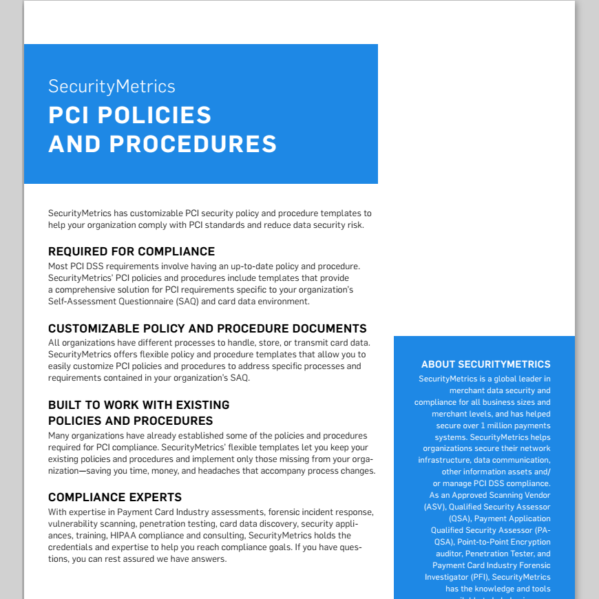 Data Security Policy Templates | PCI Policy Compliance