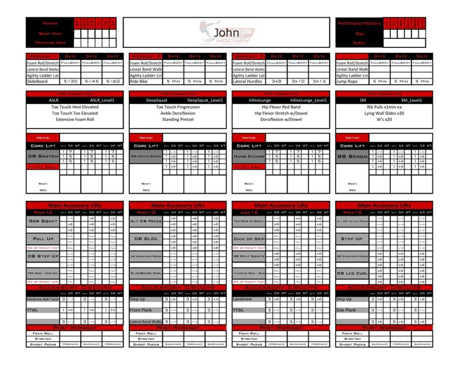 personal trainer workout template Melo.in tandem.co