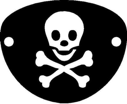 pirate patch template Google Search | Pirates Storytime | Pinterest