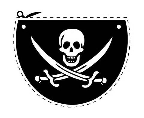 Pirate Eye Patch Template. Cut it out in black felt, secure onto