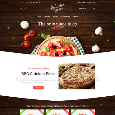 Pizza Website Template #29787