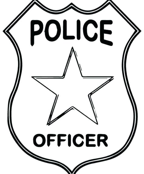 Police badge pattern. Use the printable outline for crafts