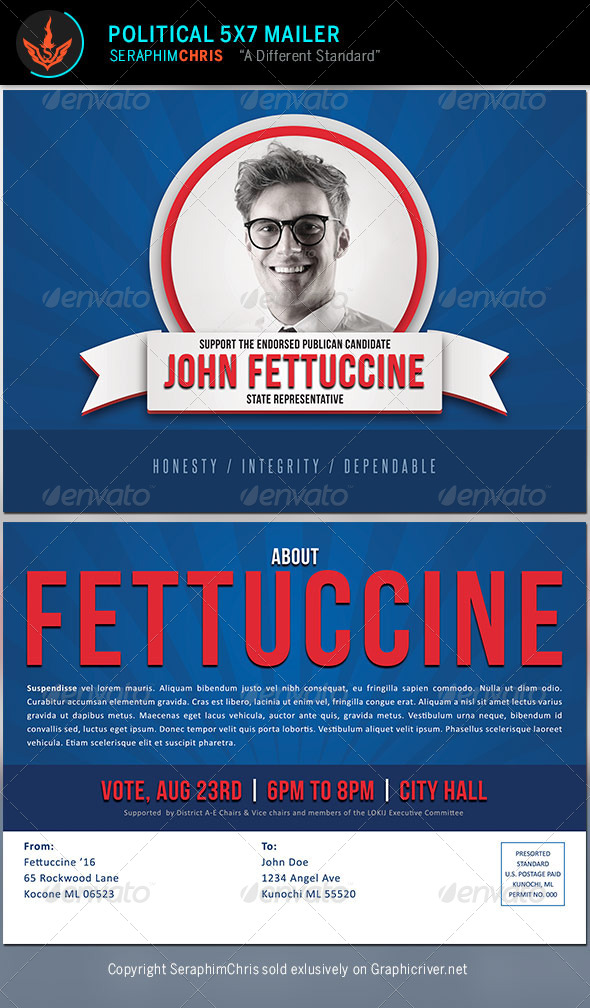 Political Mailer Template by SeraphimChris | GraphicRiver