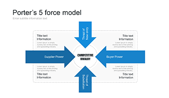 Porter's 5 Forces analysis template for PowerPoint Free Download!