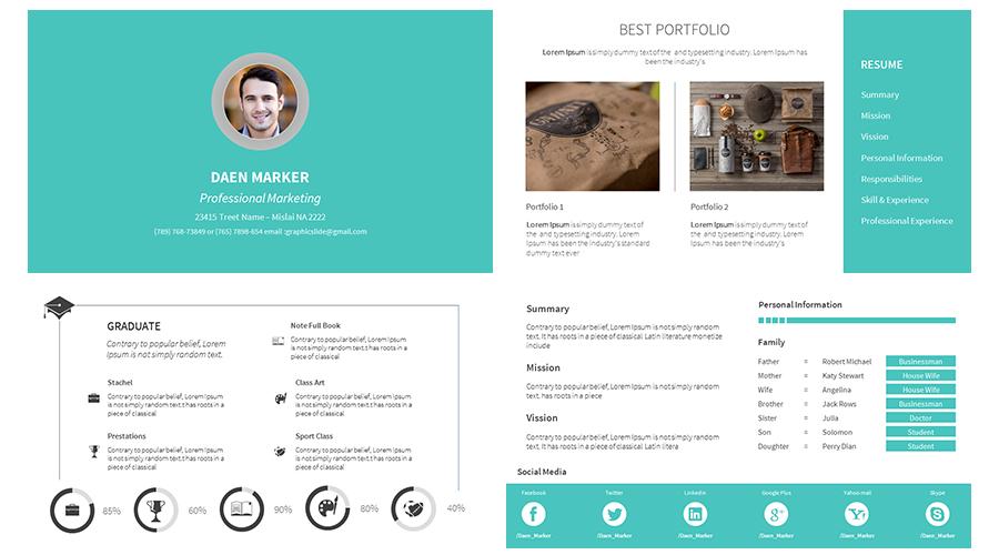 portfolio powerpoint template Akba.katadhin.co