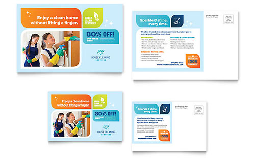 advertisement postcard templates