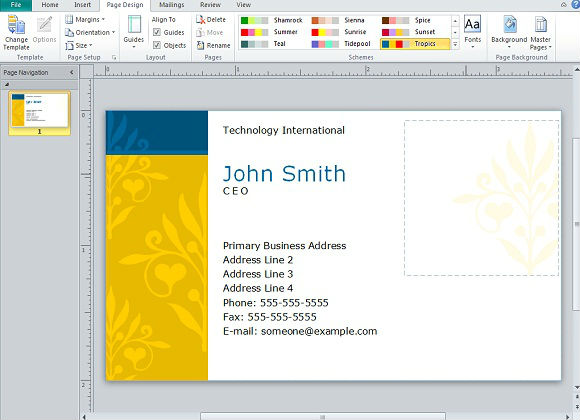 powerpoint business cards Melo.in tandem.co