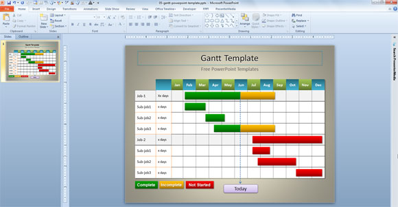 Simple Gantt Template for PowerPoint