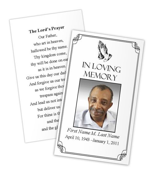 prayer card template free