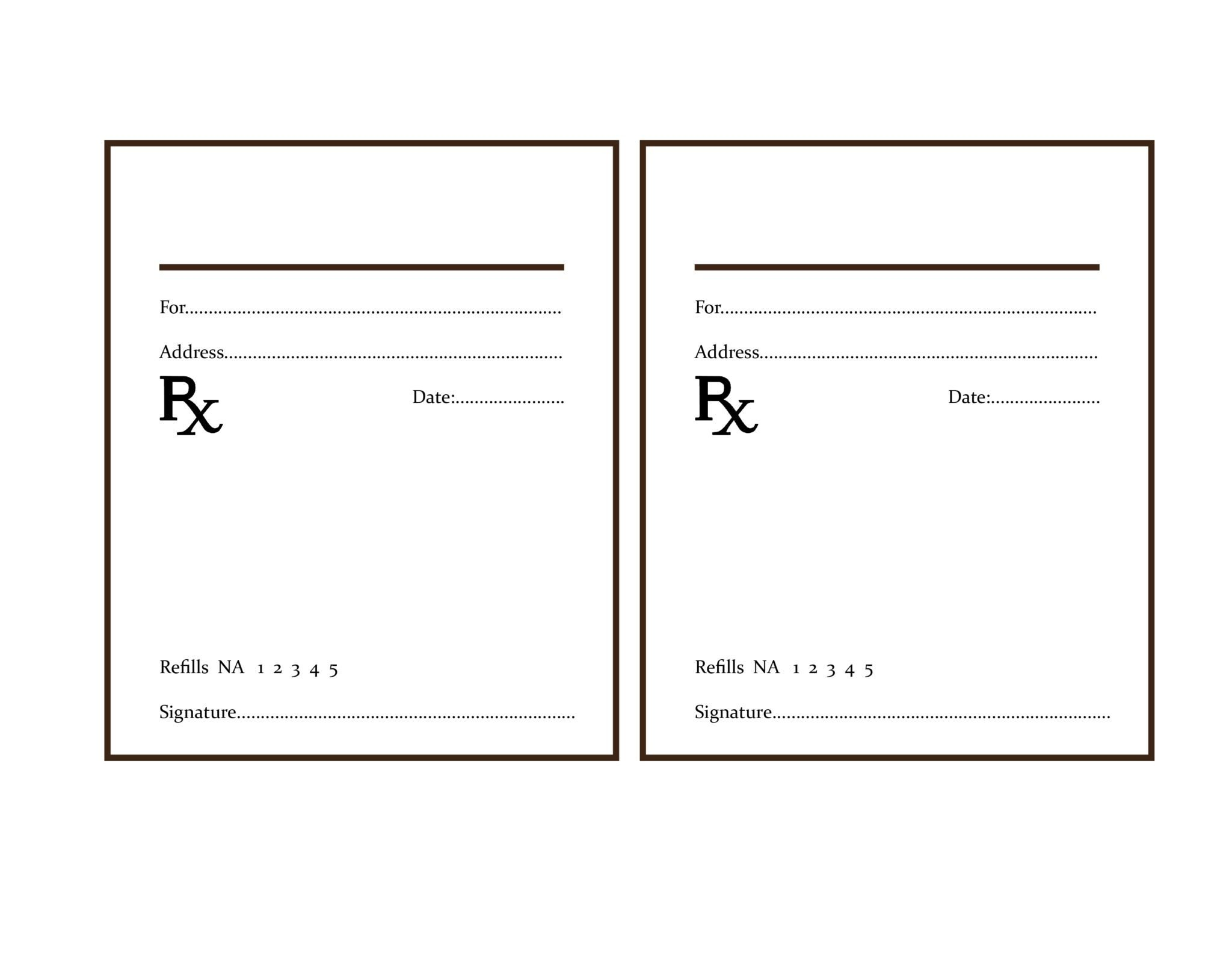 Free Prescription Template | Prescription Pads|Prescrirtion