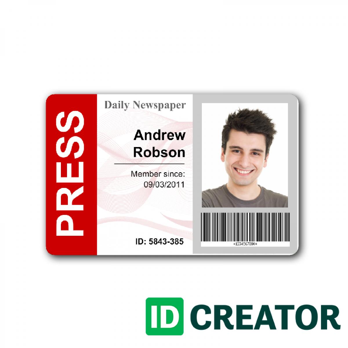 Press Pass Template | shatterlion.info