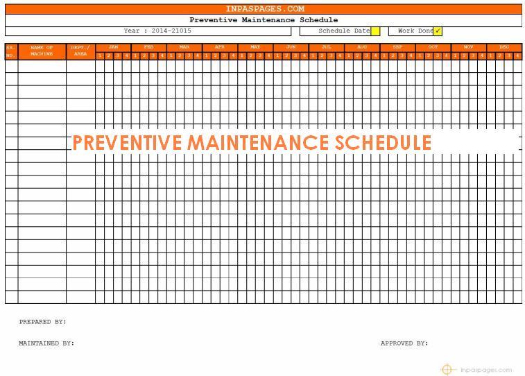 Preventative Maintenance Program Template | merrychristmaswishes info