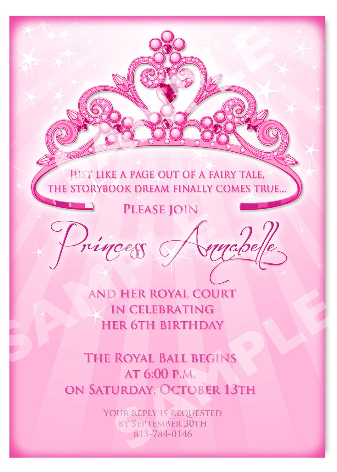 Printable Princess Invitation Cards | birthday party ideas