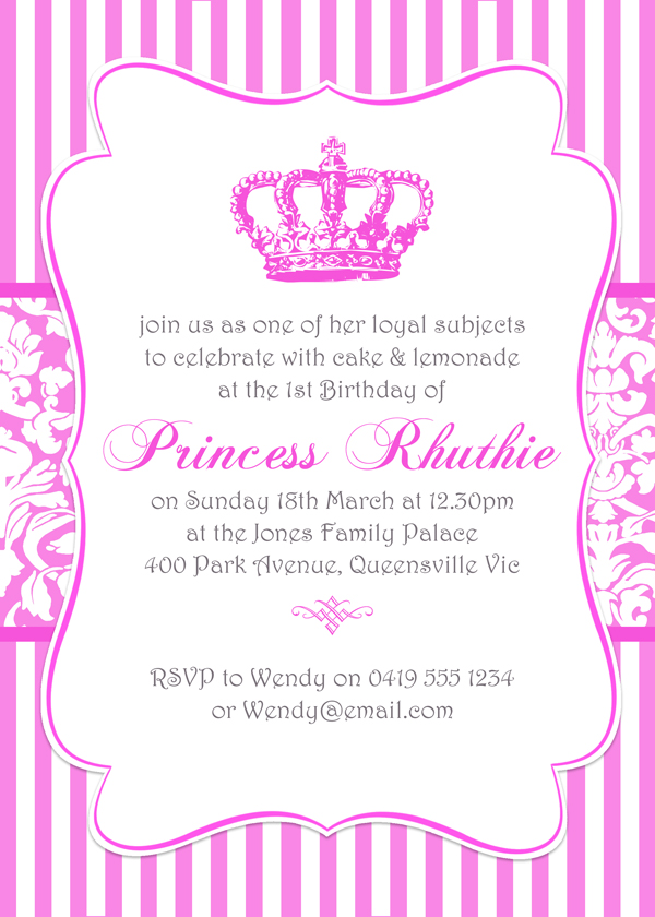 princess invitation templates Toma.daretodonate.co