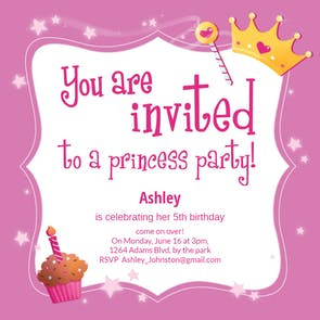 Princess Magic Free Birthday Invitation Template | Greetings Island