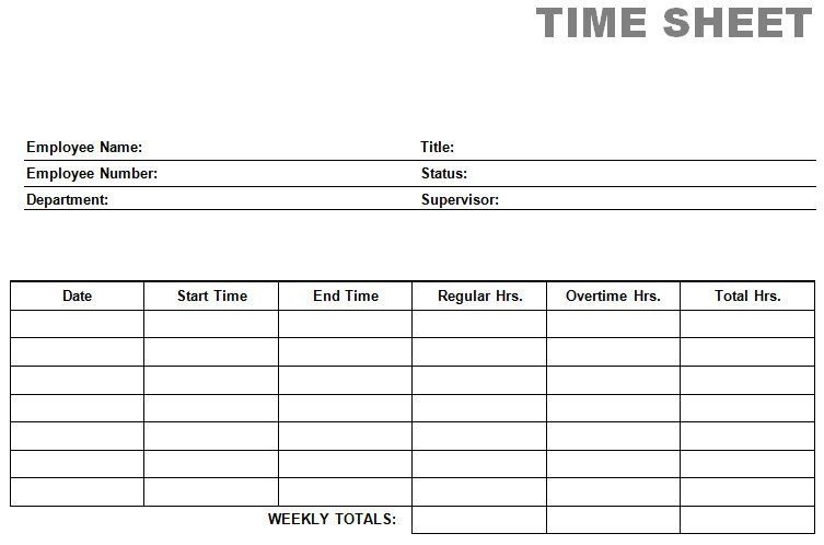 9+ Free Printable Time Cards Templates Excel Templates