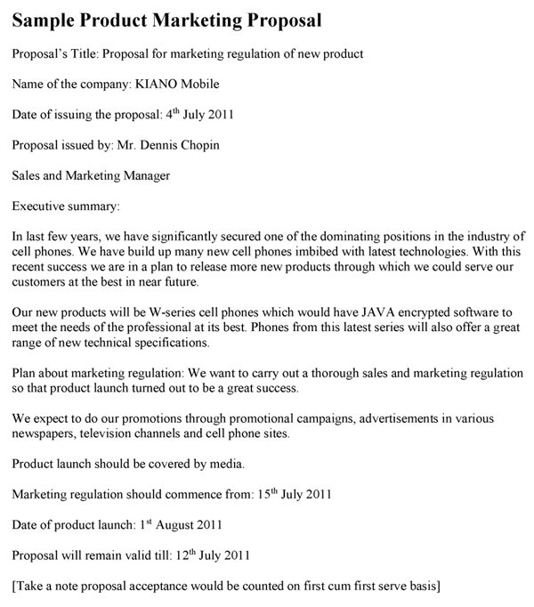 product proposal template 9 product business proposal templates