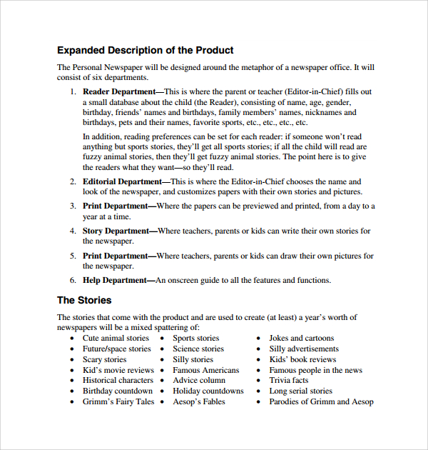 Product Proposal Template Free Pccc.us