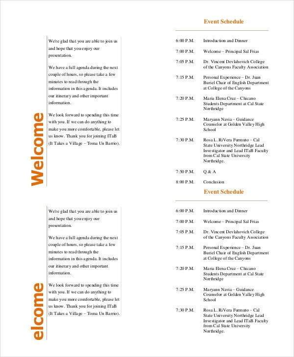 Event Program Template 37+ Free Sample, Example, Format | Free