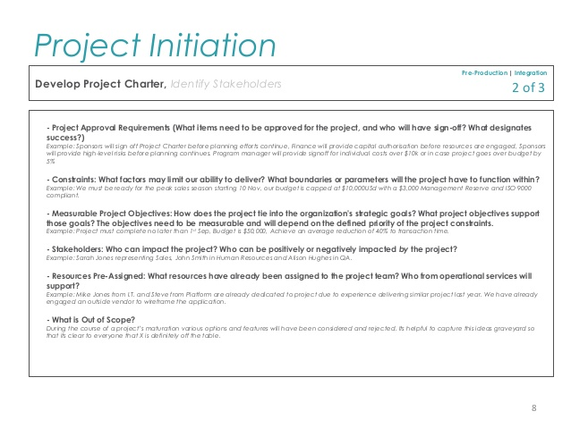 PMP Project Initiation Template for Professionals