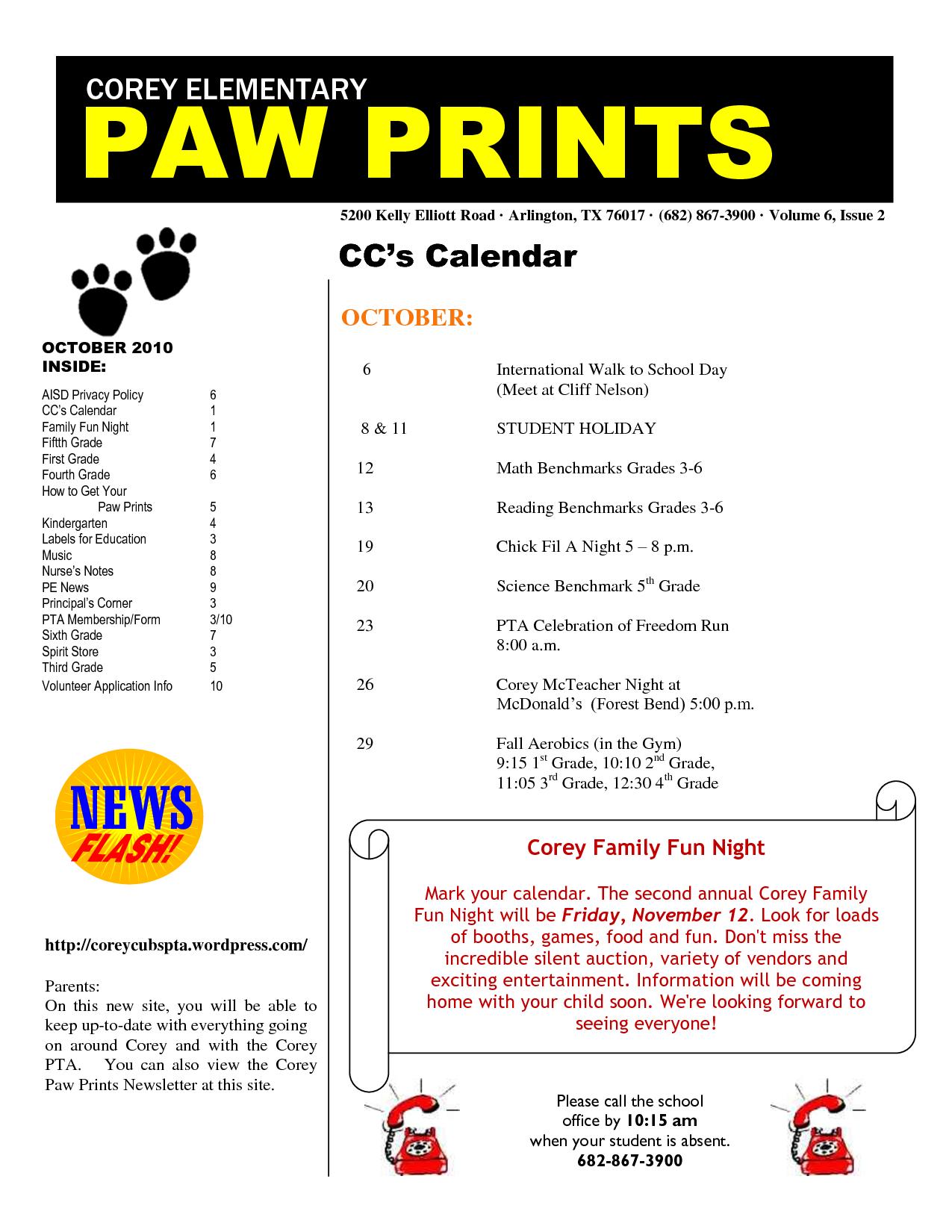Pta Newsletter Templates Pta Newsletter Templates Responsive