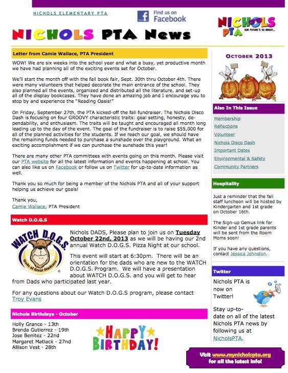 pta newsletter templates Akba.katadhin.co