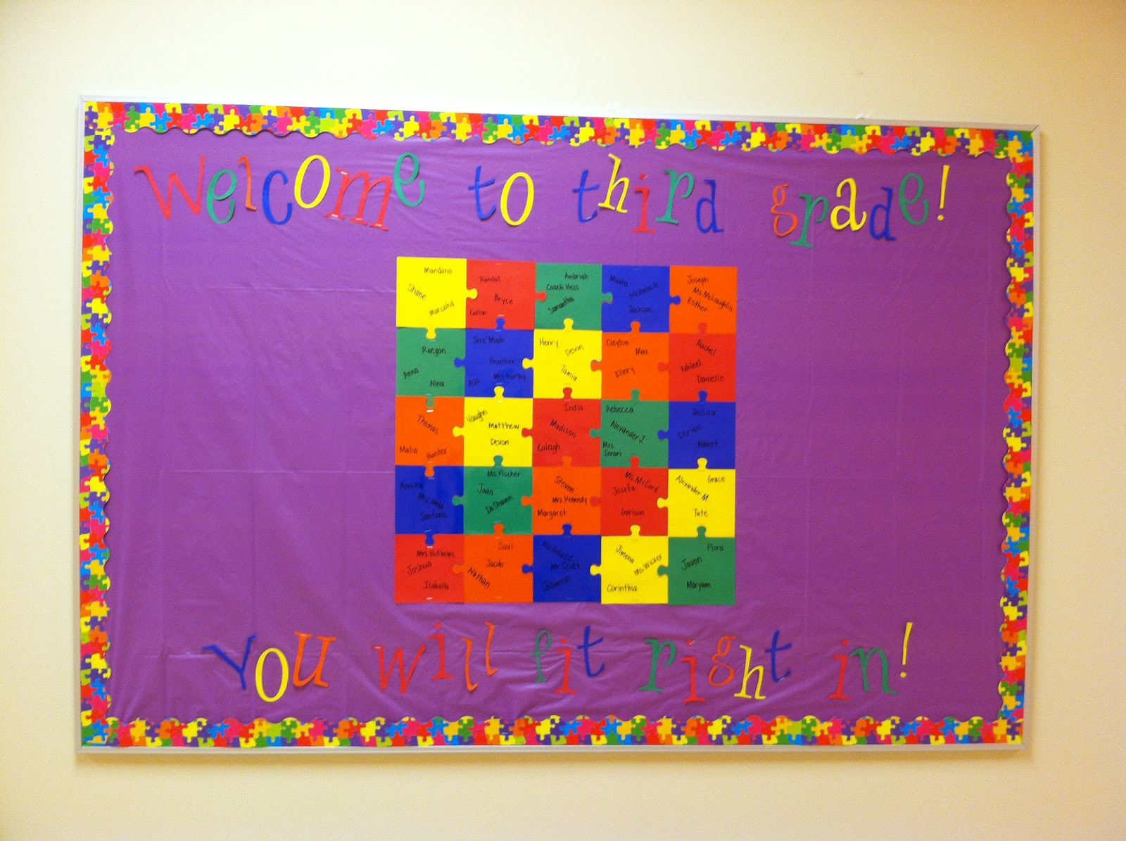 Image Result For Puzzle Piece Bulletin Board Classroom Stunning