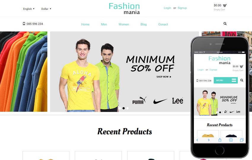 website templates python fashion mania a flat ecommerce bootstrap