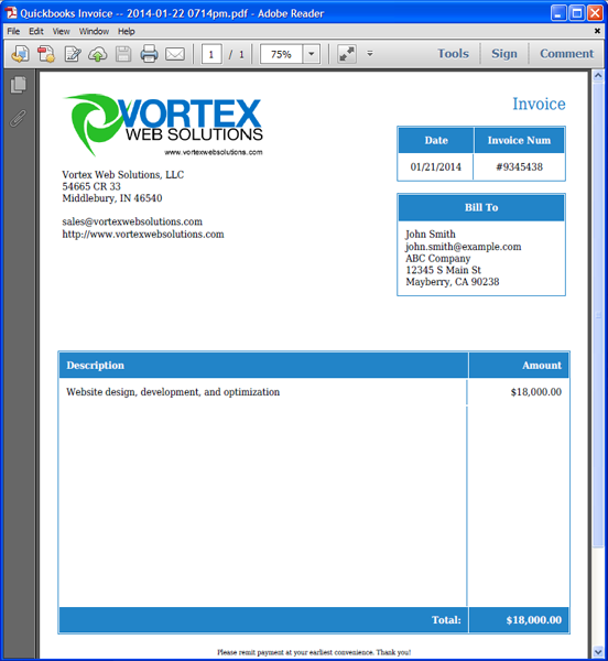 quickbooks invoice templates word Melo.in tandem.co