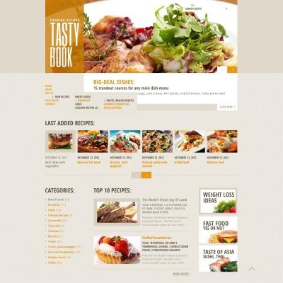 12+ Best Cooking Website Templates