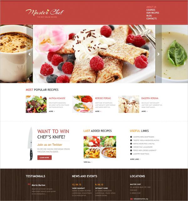 free recipe website template 17 recipe website themes templates