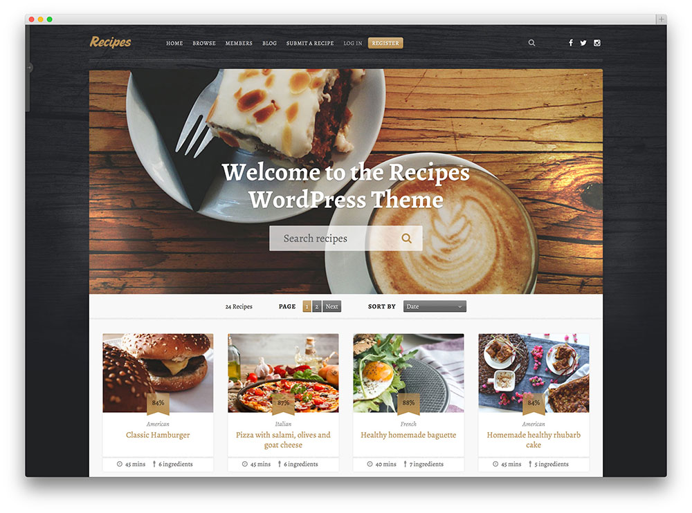 free recipe website template 25 awesome food wordpress themes to