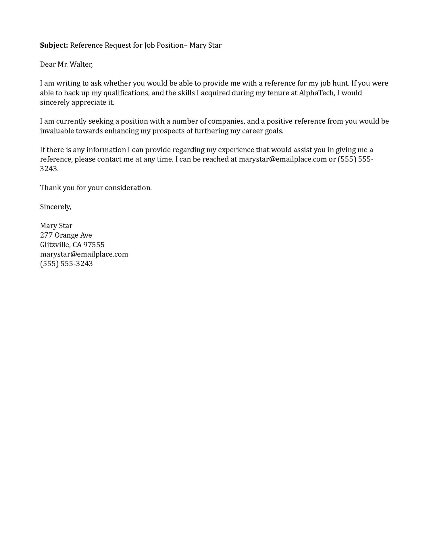 Reference Letter Email Format Best Of Best So Simple Reference