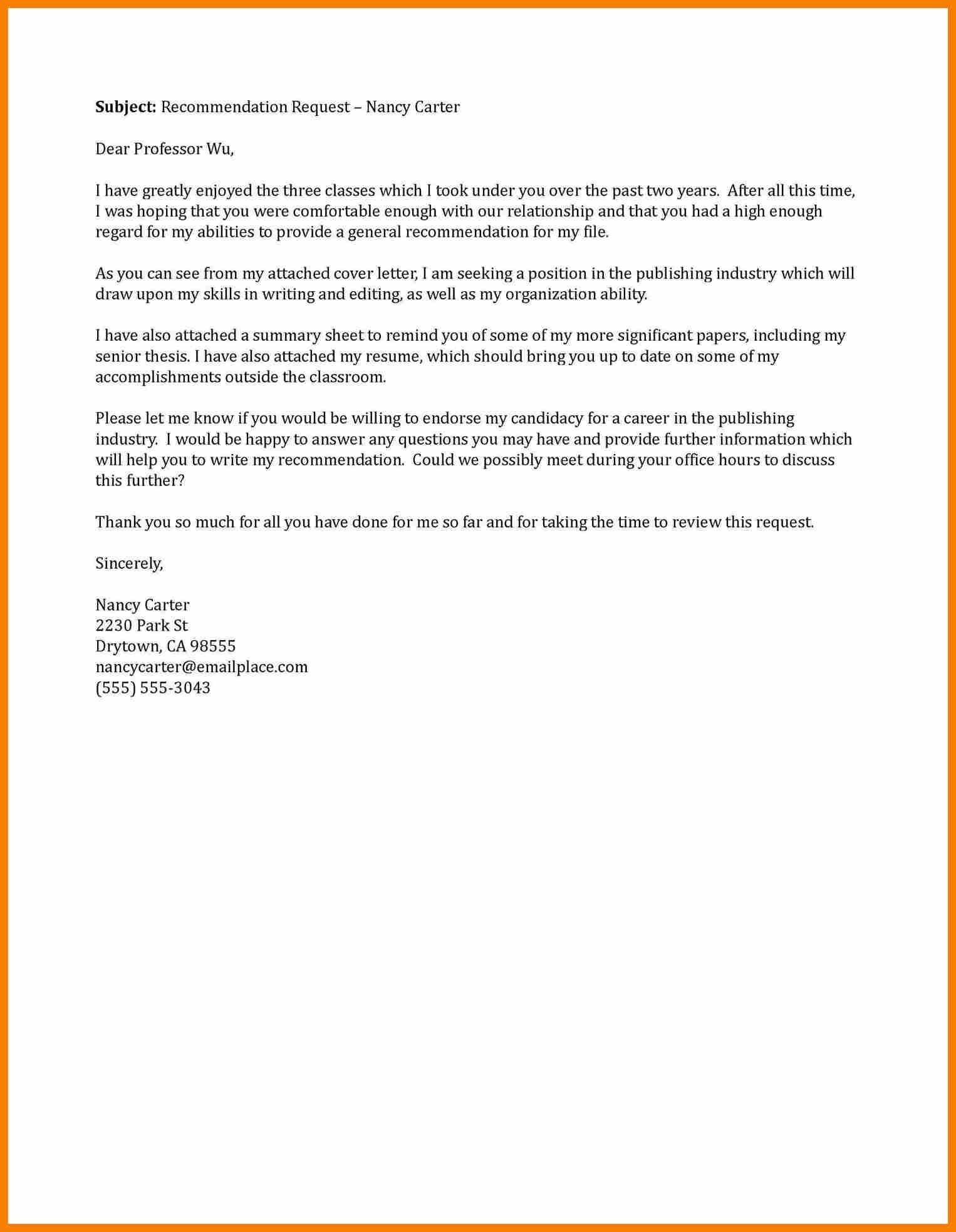 email for asking recommendation letter Akba.katadhin.co