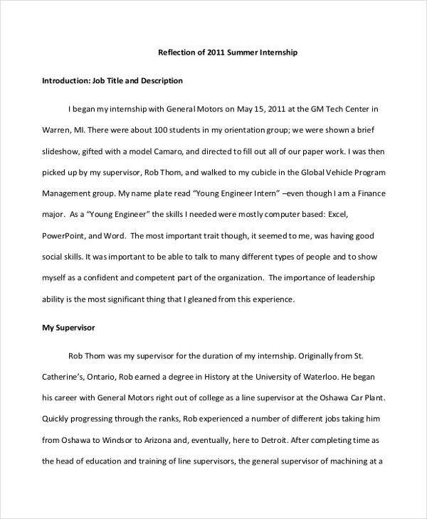 10+ Reflective Essay Examples & Samples PDF