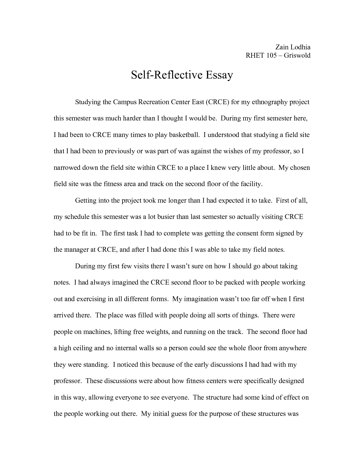personal reflection essay example Melo.in tandem.co
