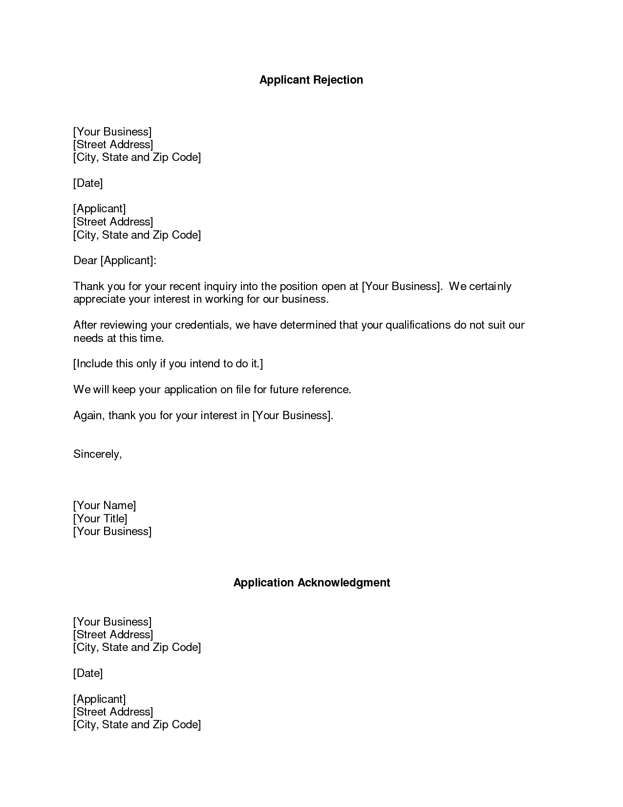 Rejection Email Template Resume Rejection Email Template Popular