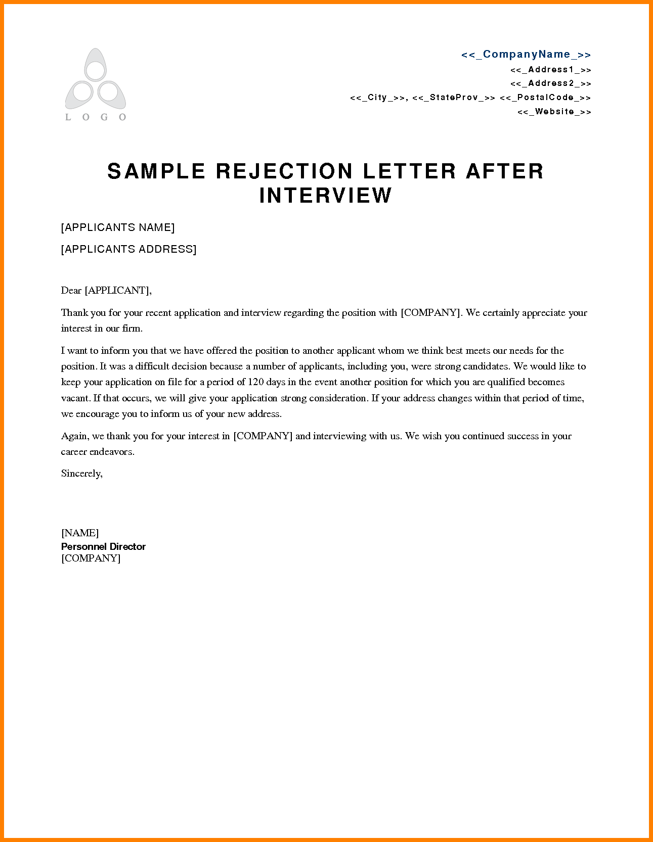 7+ employment rejection email | waa mood