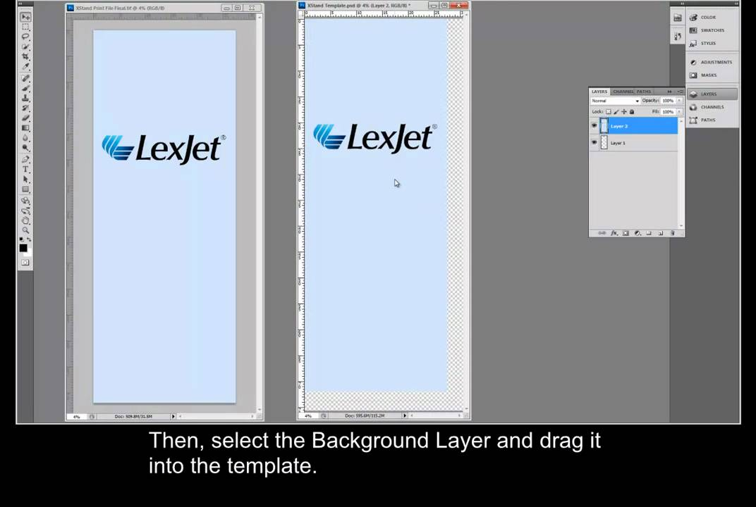 Using Expand Banner Stand Templates in Adobe Photoshop YouTube