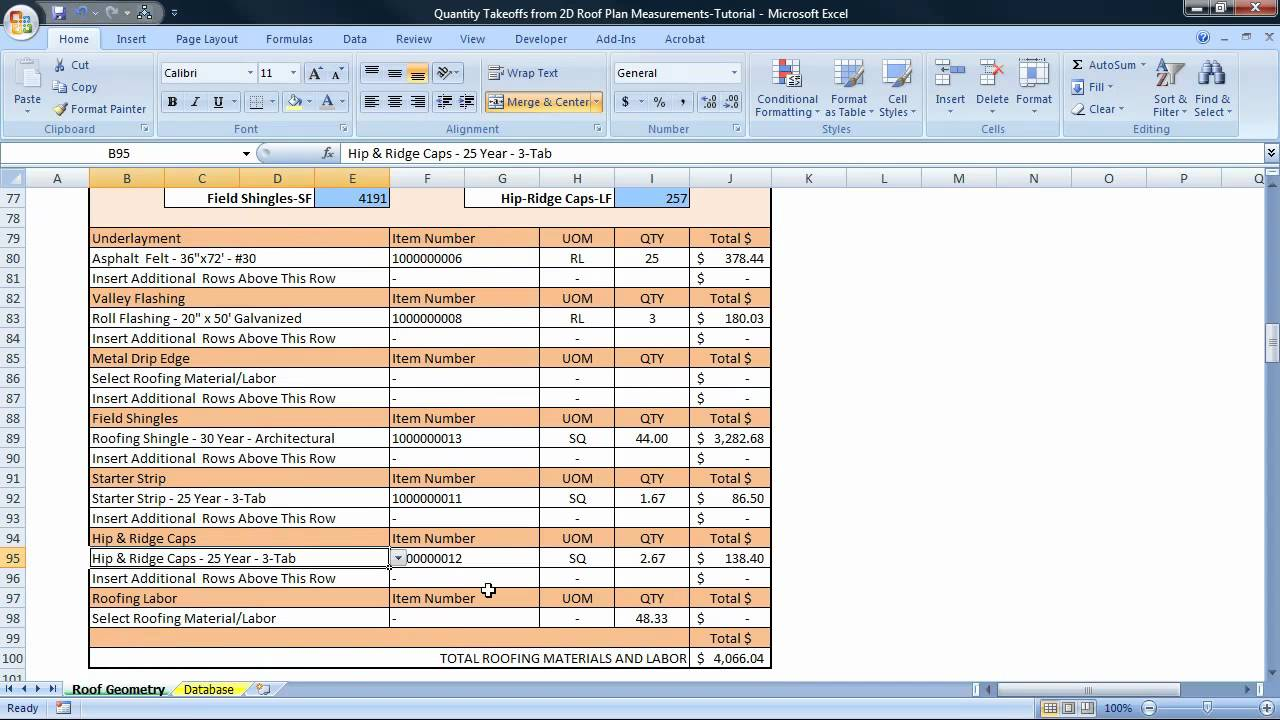 Printable Roofing Estimate Sheet | ROOFING FORMS | Projects to Try