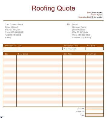 Estimating Roofing Template Overview.mp4 YouTube