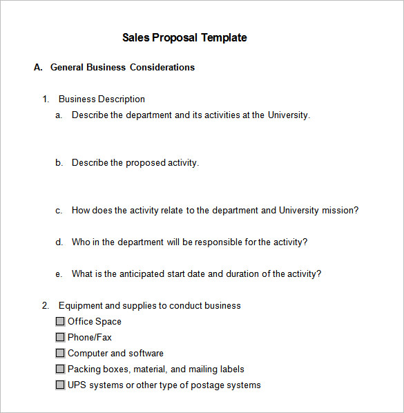 Sale Proposal Template Henrycmartin.com